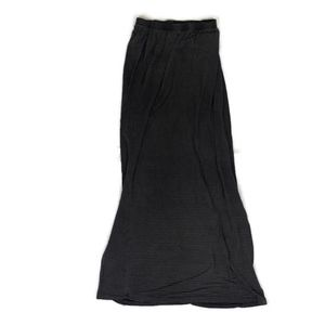 Brandy Melville Black Gray Striped Maxi Skirt